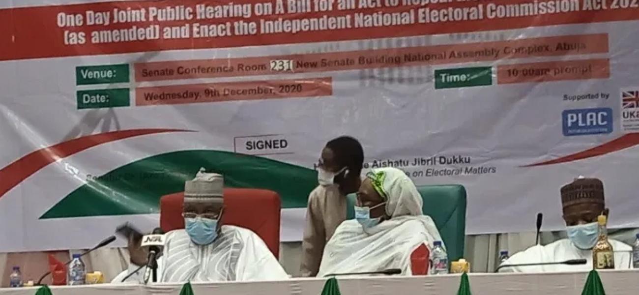 Electoral Act - Public Hearing
