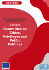 Policy Brief : Increasing Awareness and Engagement of the Senate Committee on Ethics, Privileges and Public Petitions