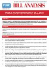 Analysis of Public Health Emergency Bill, 2020